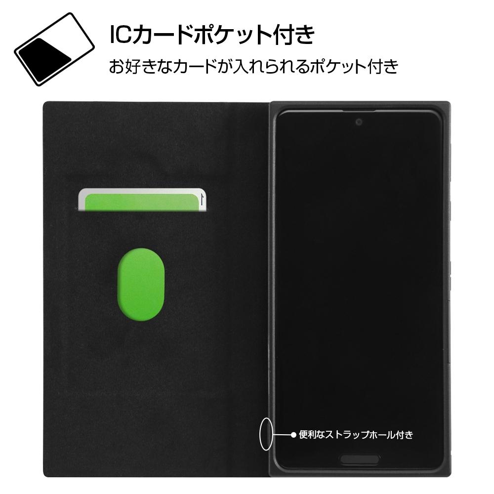 AQUOS sense4 『ディズニーキャラクター』/耐衝撃 手帳型レザーケース サイドマグネット/『ドナルドダック』