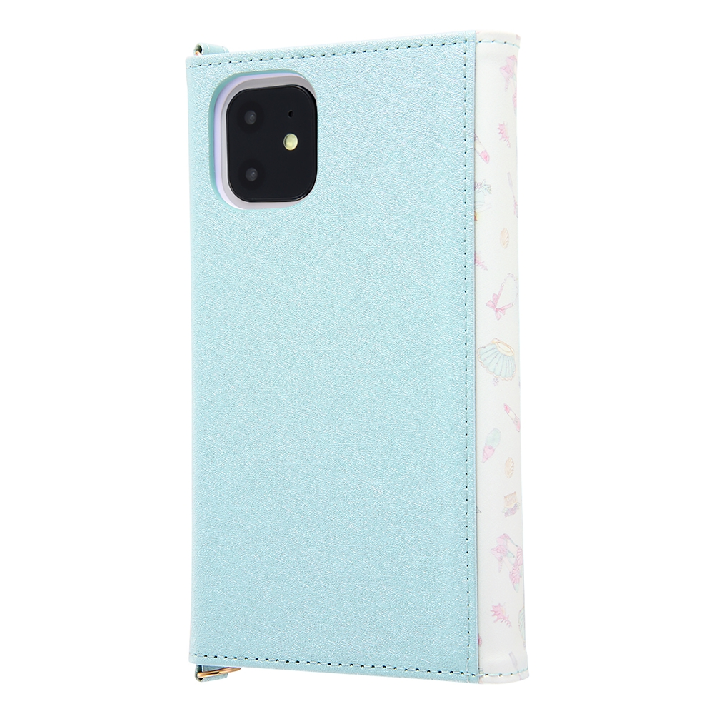 【送料無料】リトル・マーメイド iPhone 11用スマホケース・カバー 手帳型 レザー Collet チャーム+ストラップ付き