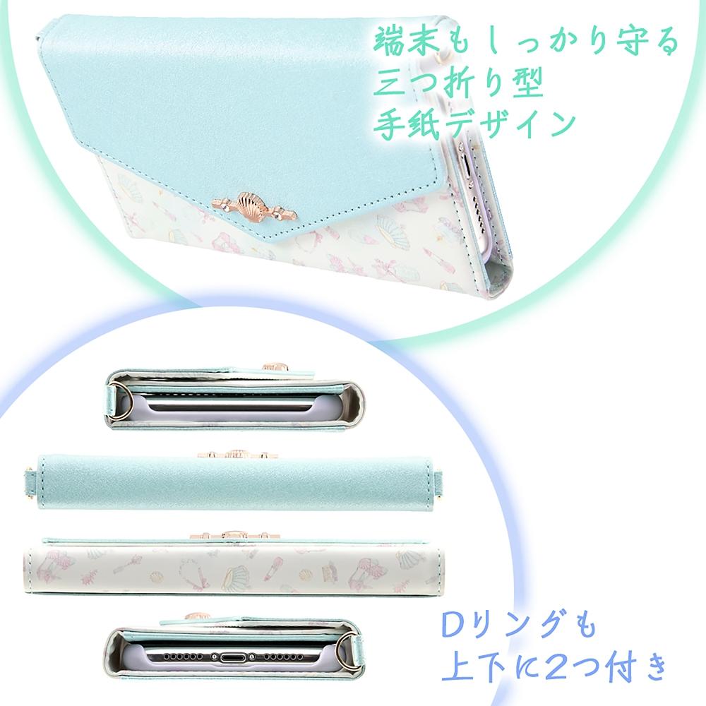 リトル・マーメイド iPhone 11用スマホケース・カバー 手帳型 レザー Collet チャーム+ストラップ付き