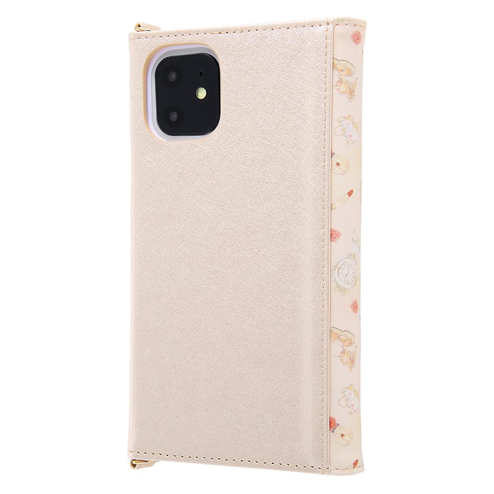 美女と野獣 iPhone 11用スマホケース・カバー 手帳型 レザー Collet チャーム+ストラップ付き