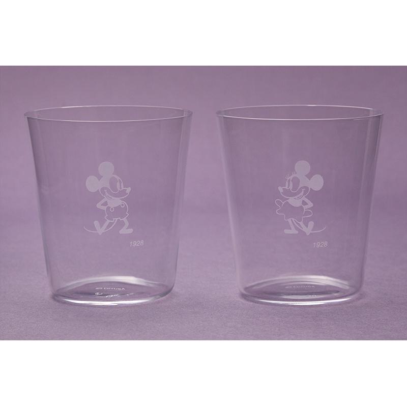 江戸硝子薄造りペアグラス ミッキー&ミニー 1928