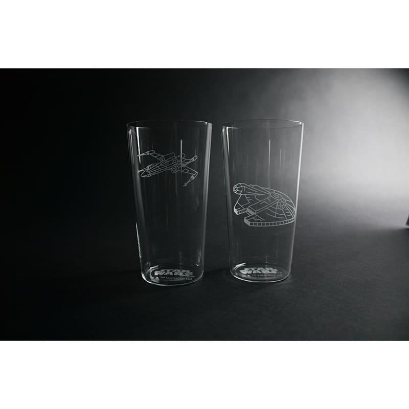 江戸硝子薄造りタンブラーペアグラス スター・ウォーズ 反乱軍ビークル