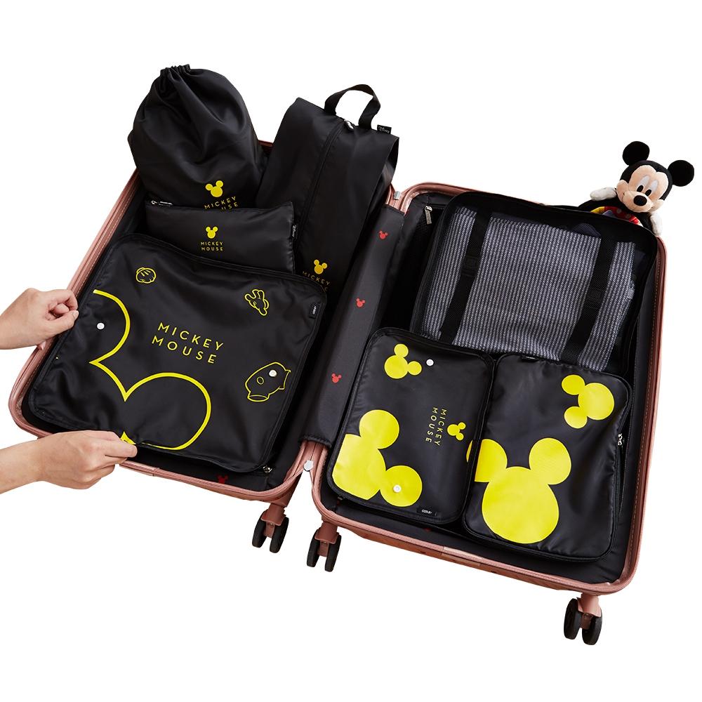 【deseno】Disney ミッキーマウス 収納袋7点セット 黒