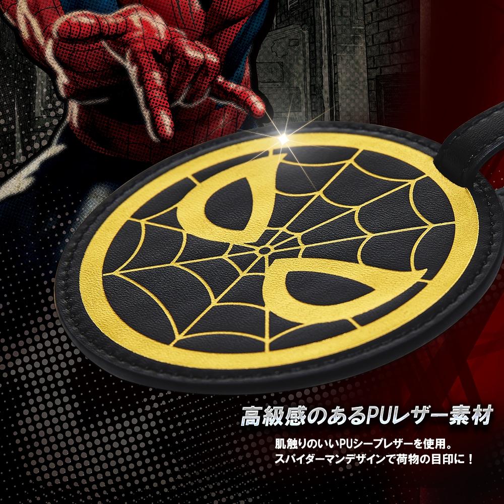 【deseno】マーベル スパイダーマン ラゲージタグ 黒