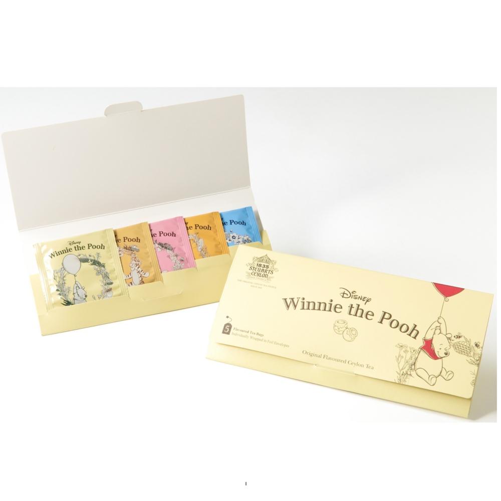くまのプーさん 5種アソートティーバッグ紅茶 10g(各2g×5袋)