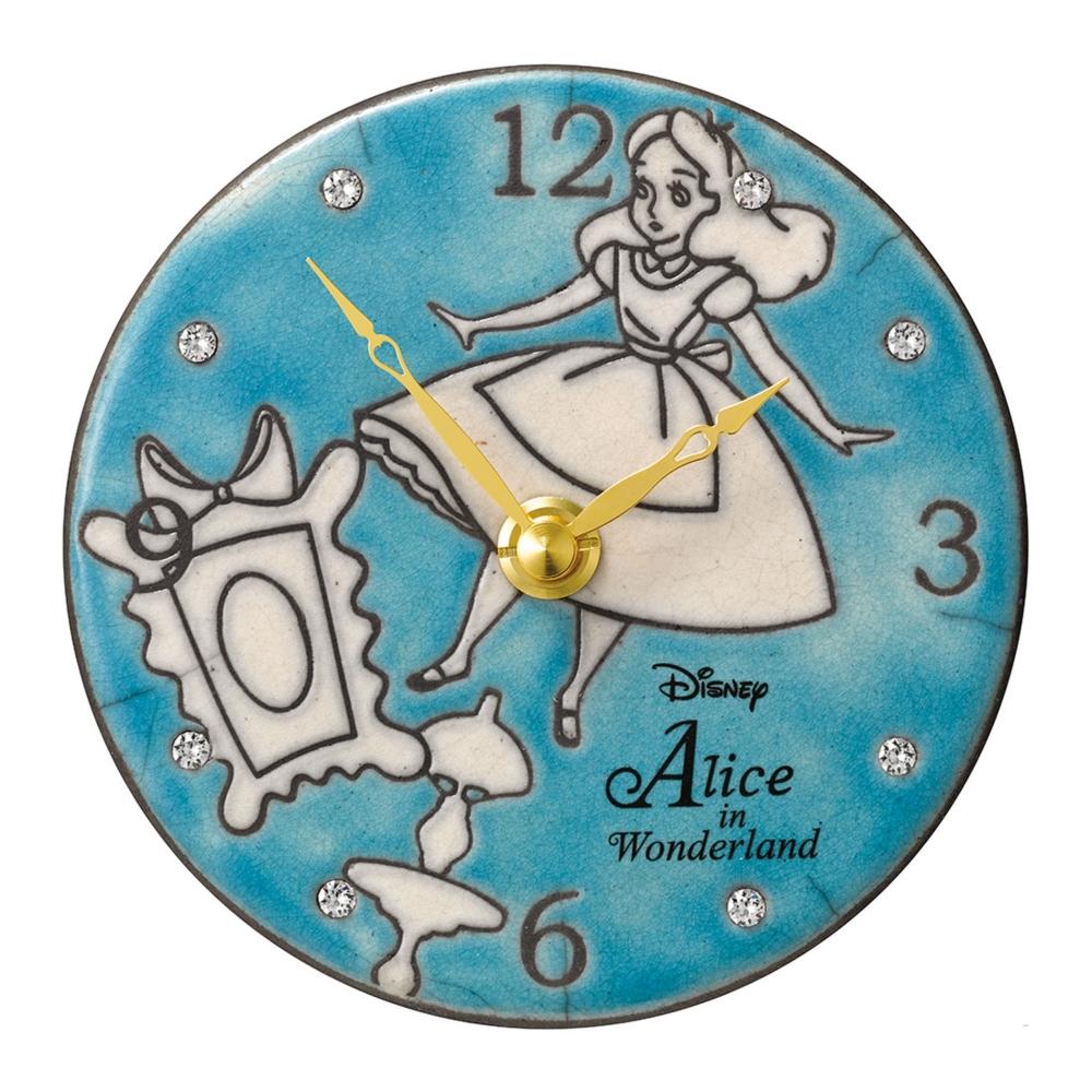 【送料無料】アリス イタリア製陶器の時計(掛置両対応)