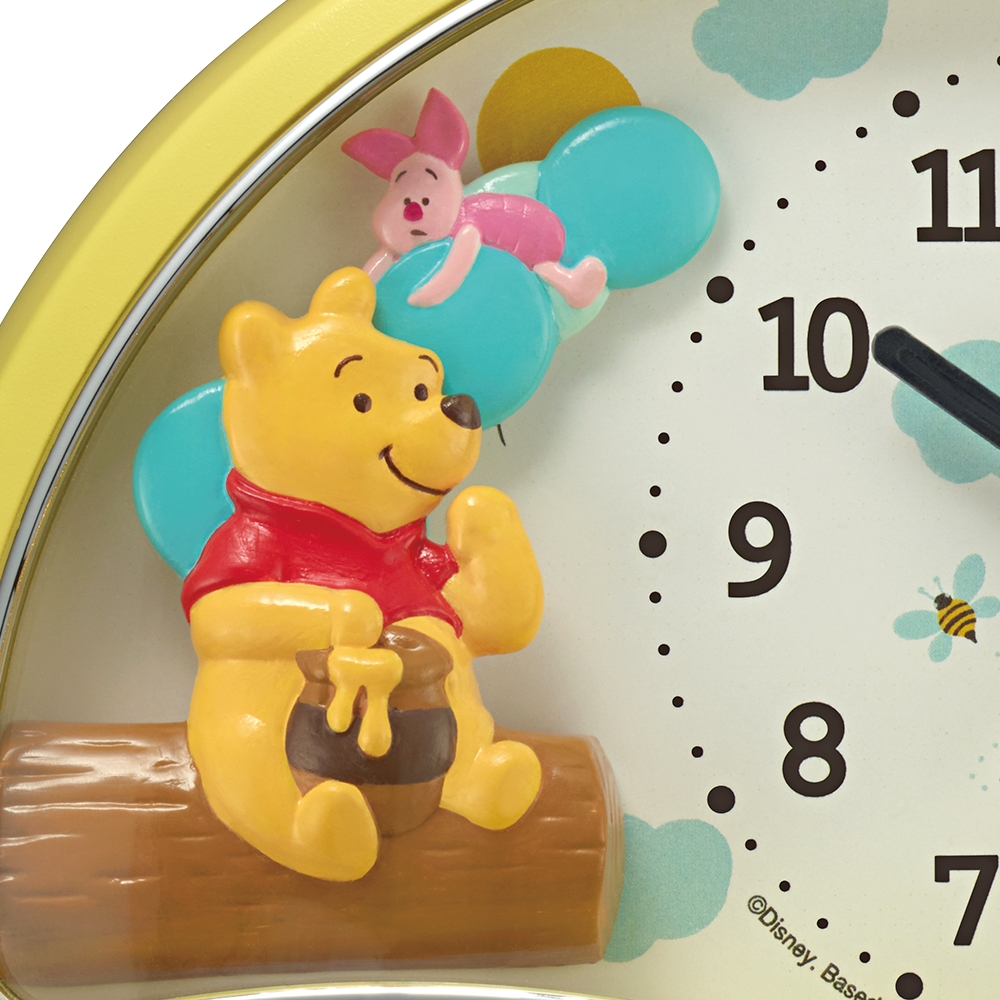 くまのプーさん めざまし時計(アラームOFFでピグレットが飛び出す)