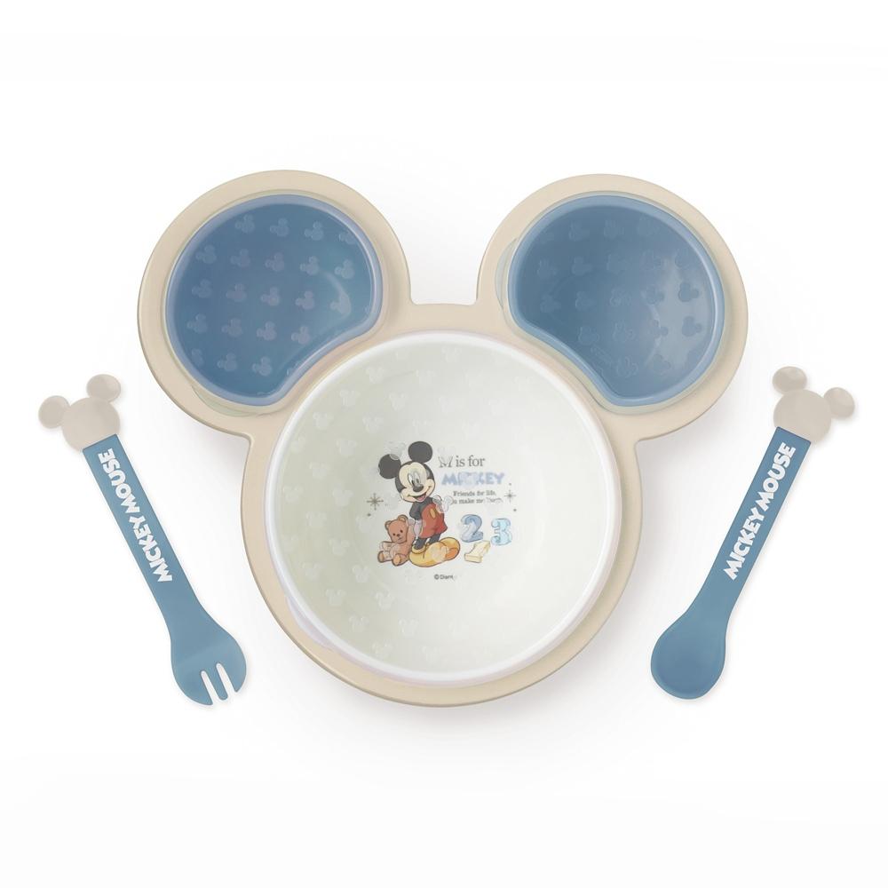 ミッキーマウス 片手で持てる離乳食パレット