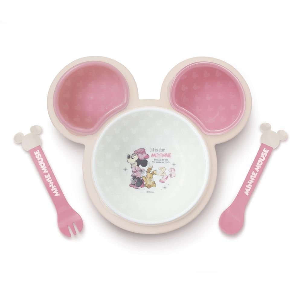 ミニーマウス 片手で持てる離乳食パレット
