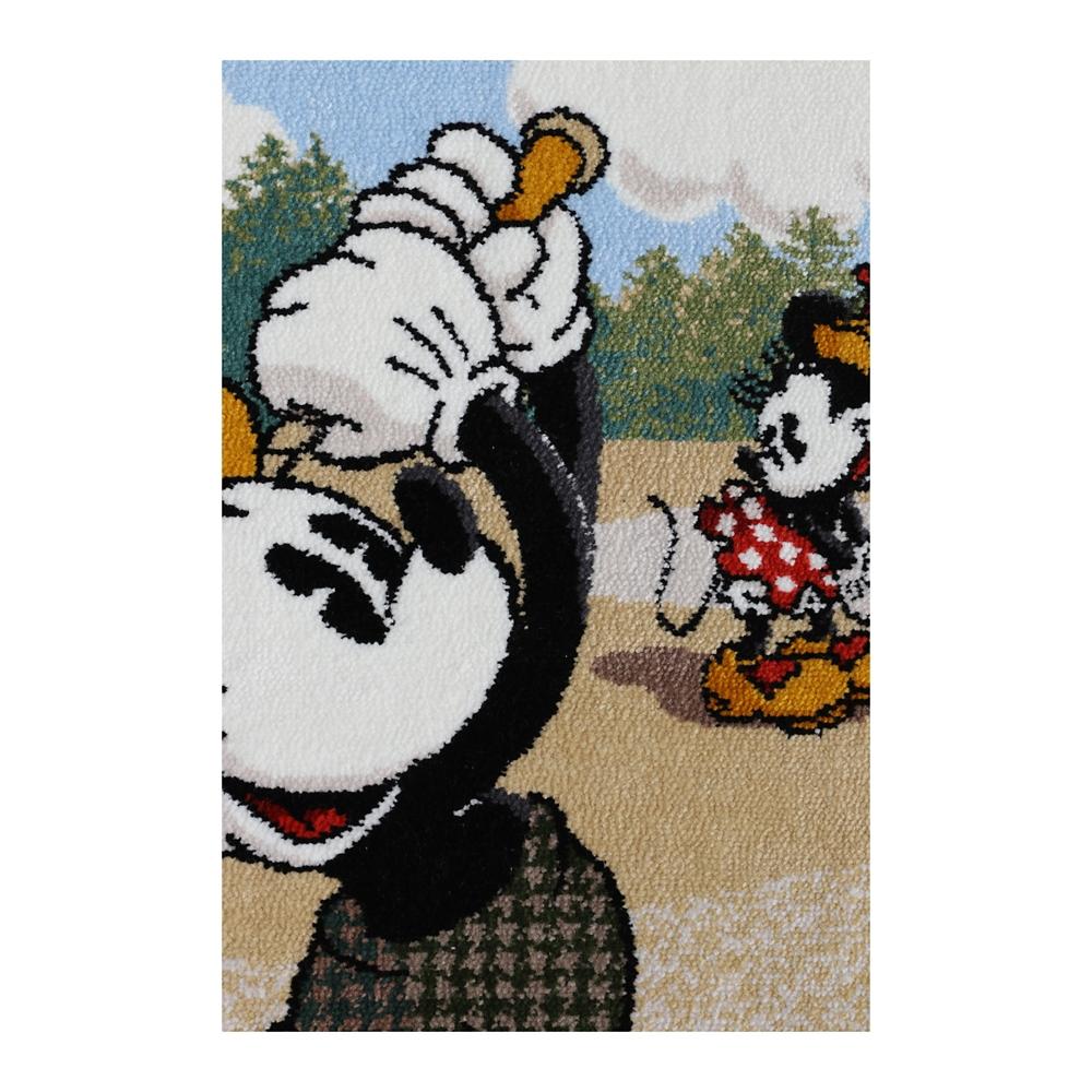 ミッキーマウス&ミニーマウス シェニール織りバスタオルL