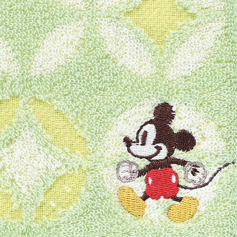 ミッキーマウス フェイスタオル グリーン