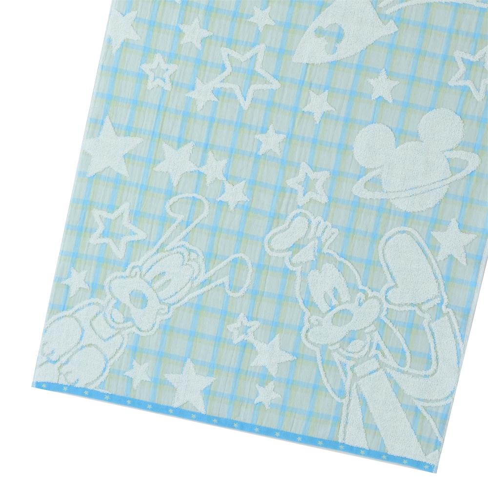 ミッキー&フレンズ バスタオル ブルー