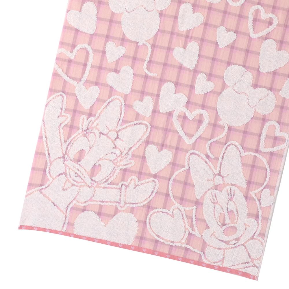 ミニーマウス&デイジーダック バスタオル ピンク