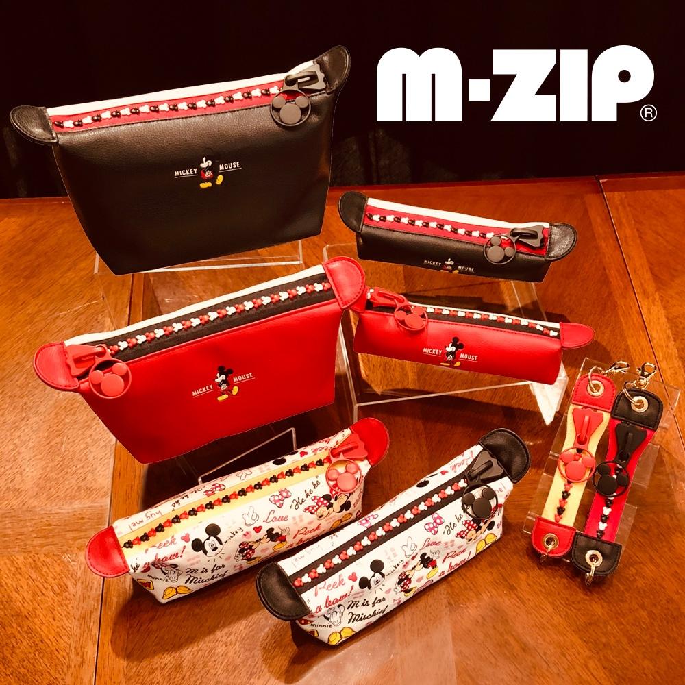 ミッキー キーホルダー・キーチェーン M-ZIP ブラック