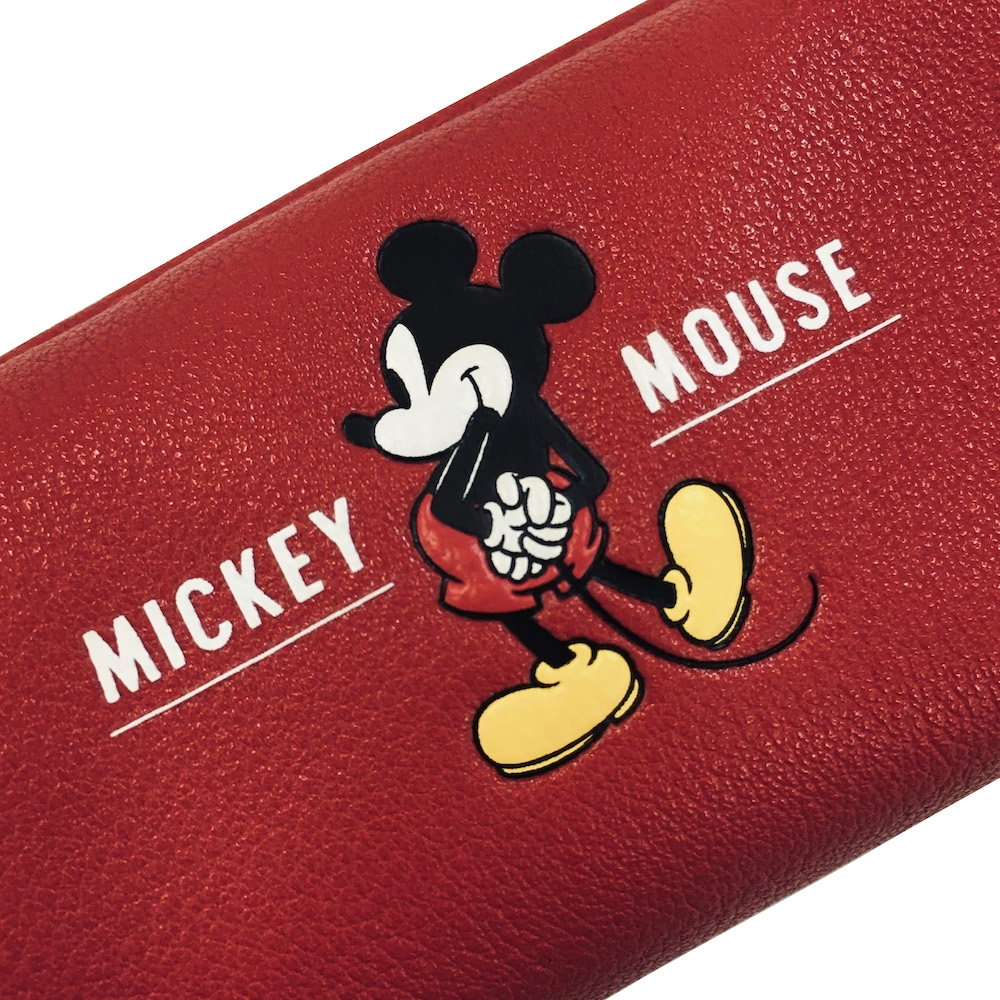 ミッキー ペンケース・筆箱 M-ZIP シリーズ 「M-ZIP ペンケース赤」