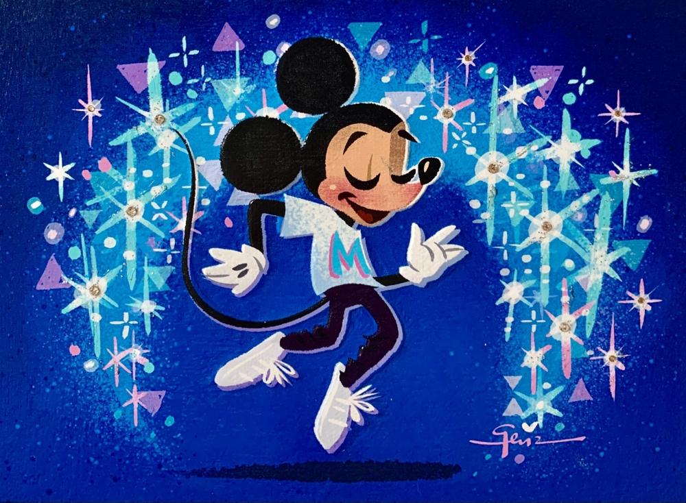 【受注生産】ミッキーマウス展/Dancing Into the Future/インパストファインアート