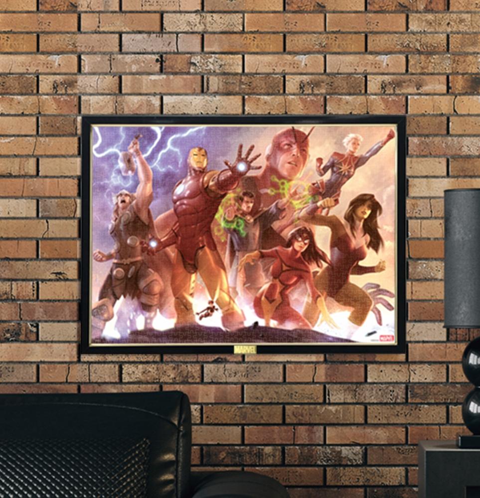 マーベル ジグソーパズル ピュアホワイト ぎゅっと1000ピース スペシャルアートコレクション アレックス・ガーナー「Avengers Team Iron Man」
