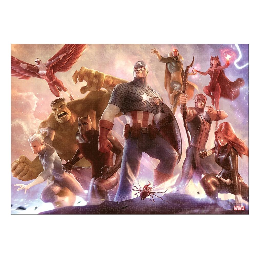 マーベル ジグソーパズル ピュアホワイト ぎゅっと1000ピース スペシャルアートコレクション アレックス・ガーナー「Avengers Team Cap」