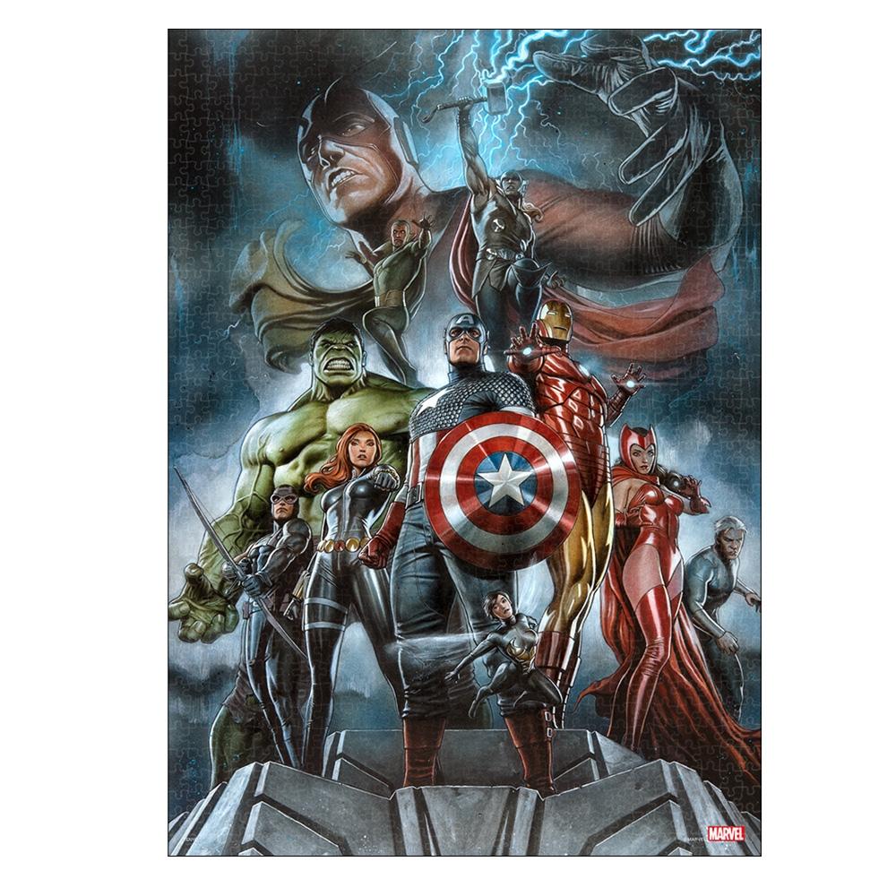 マーベル ジグソーパズル ピュアホワイト ぎゅっと1000ピース スペシャルアートコレクション アディ・グラノフ「The Avengers:Earth's Mightiest Heroes」