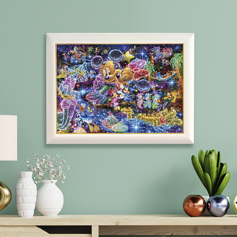 ミッキー&フレンズ ピュアホワイト ジグソーパズル ぎゅっと500ピース 「星空に願いを…」