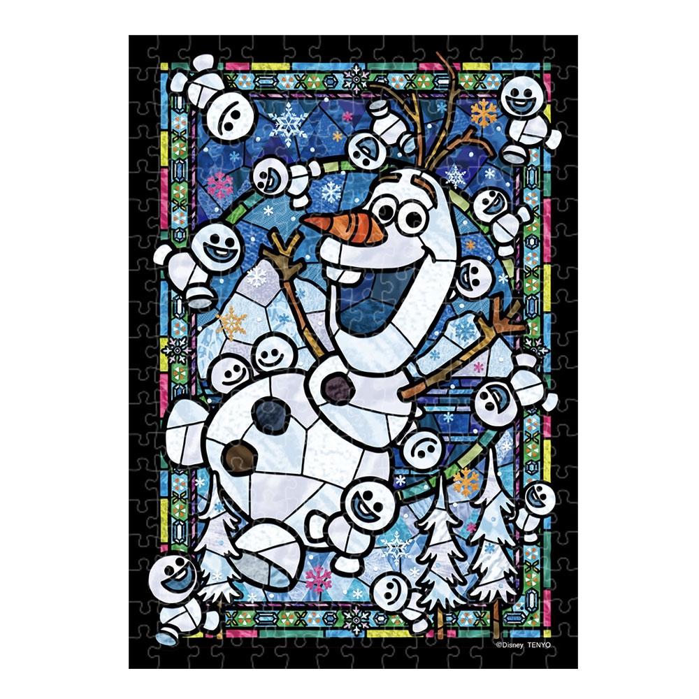 アナと雪の女王 ジグソーパズル ステンドアート ぎゅっと266ピース 「 オラフ ステンドグラス」