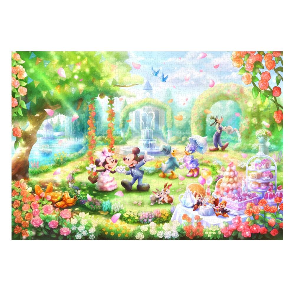 ミッキー&フレンズ ピュアホワイト 1000ピース ジグソーパズル 「バラの香りのガーデンパーティー」