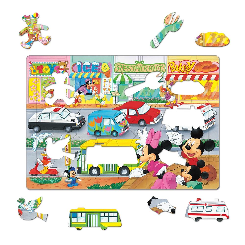 ミッキー&フレンズ シルエットピースチャイルドパズル 60ピース 「のりものだいすき」