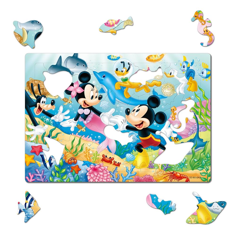 ミッキー&フレンズ シルエットピースチャイルドパズル 60ピース 「おさかなとおよごう!」