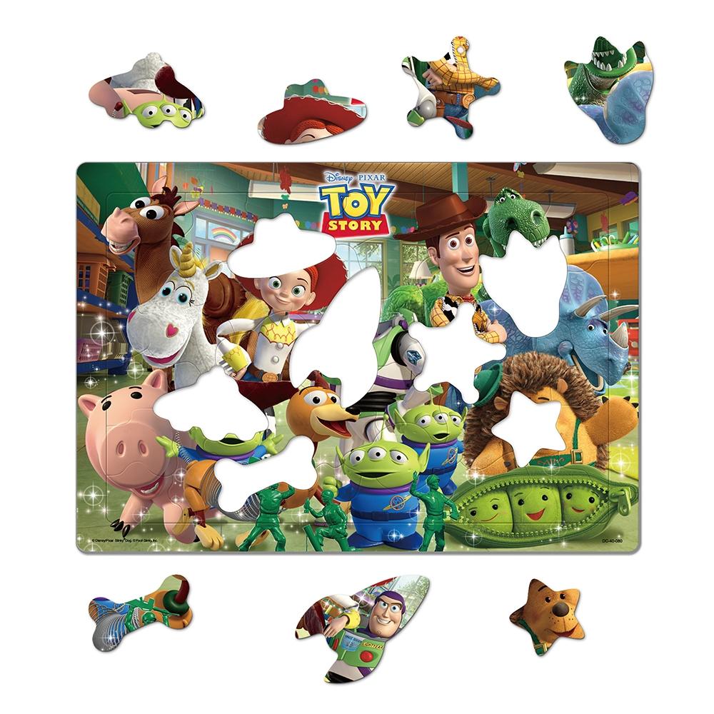トイ・ストーリー シルエットピースチャイルドパズル 40ピース 「おもちゃがいっぱい(トイ・ストーリー)」