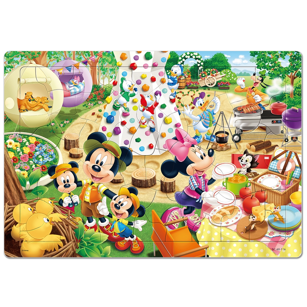 ミッキー&フレンズ チャイルドパズルできる!シリーズ 60ピース 「キャンプじょうでさがそう!」