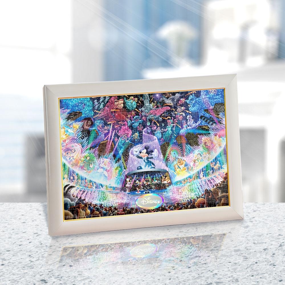 ディズニーオールキャラクター ジグソーパズル ステンドアート ぎゅっと500ピース  「ディズニー ウォーター ドリーム コンサート 」