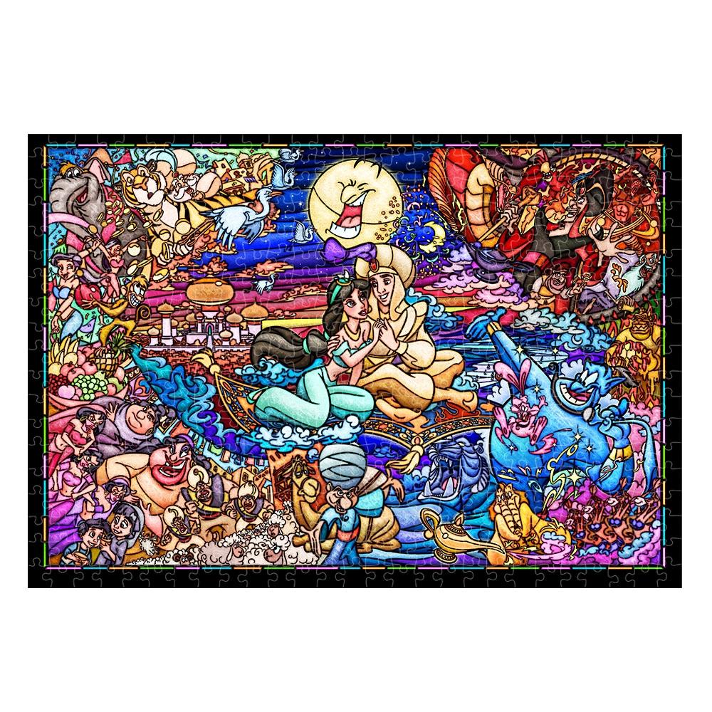 アラジン ステンドアート ぎゅっと500ピース ジグソーパズル 「アラジン ストーリー ステンドグラス」