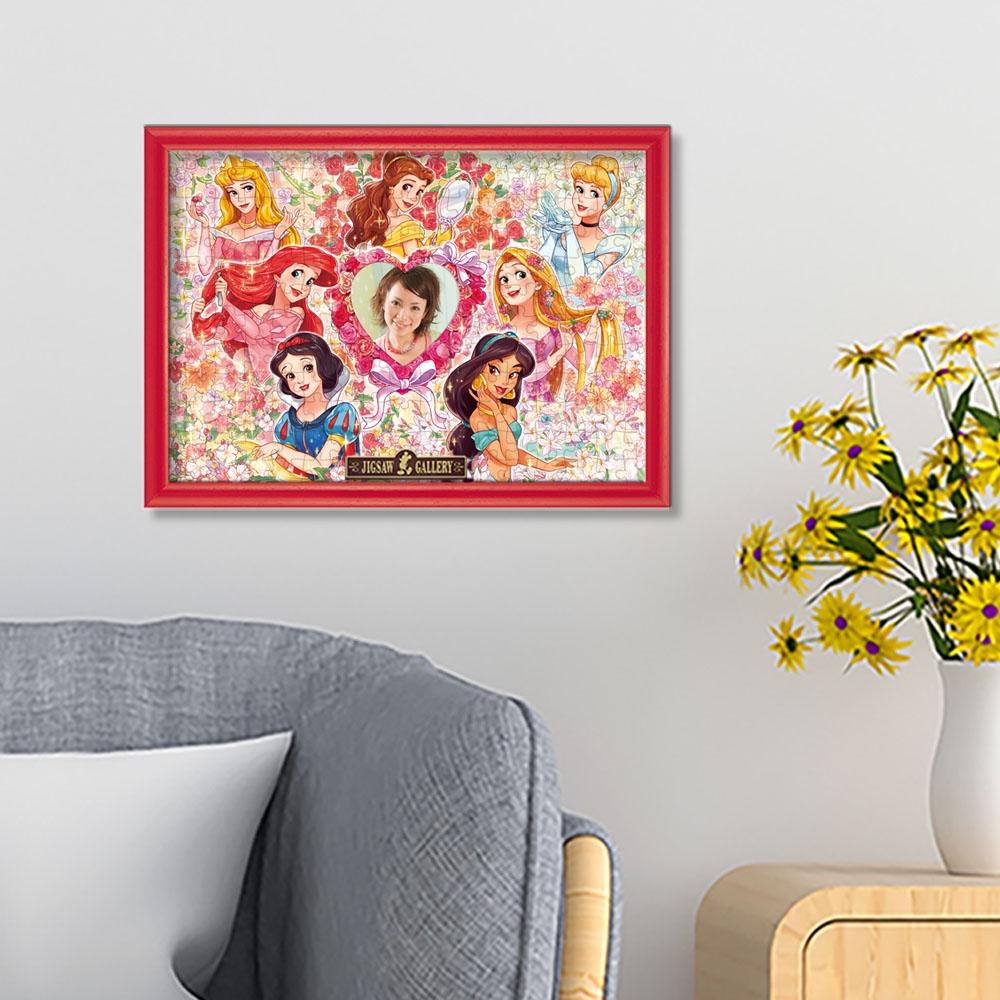 ディズニープリンセス 写真が飾れる 200ピース ジグソーパズル 「メモリアル フラワー(ディズニープリンセス)」