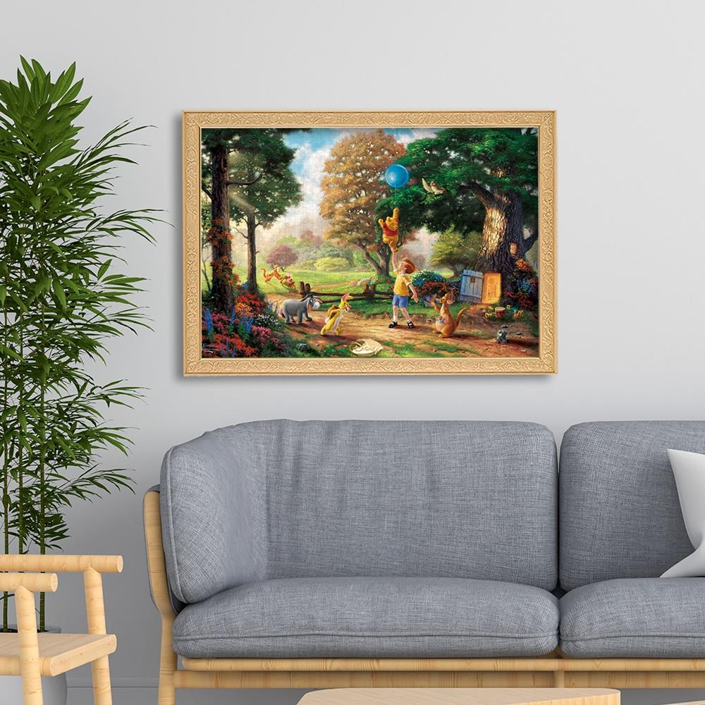 くまのプーさん ジグソーパズル キャンバススタイル 1000ピース スペシャルアートコレクション トーマス・キンケード 「Winnie The Pooh II」