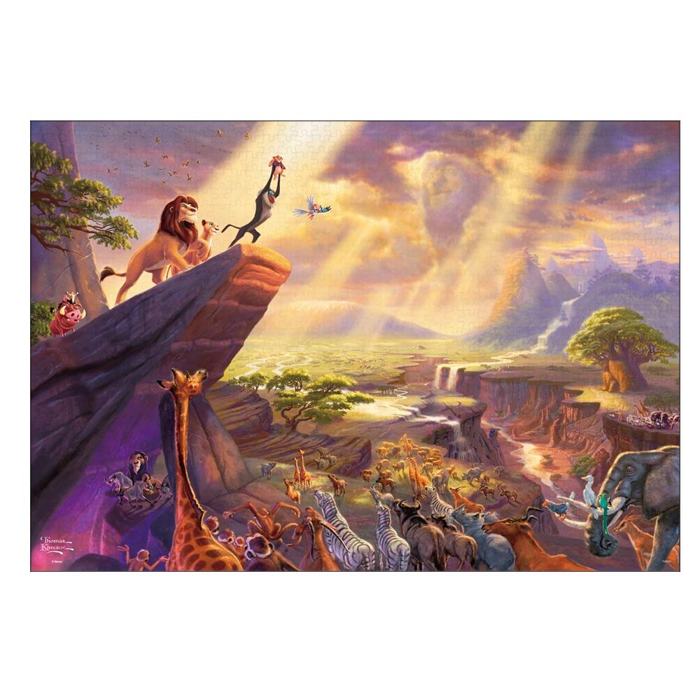 ライオン・キング ジグソーパズル キャンバススタイル 1000ピース スペシャルアートコレクション トーマス・キンケード 「The Lion King」