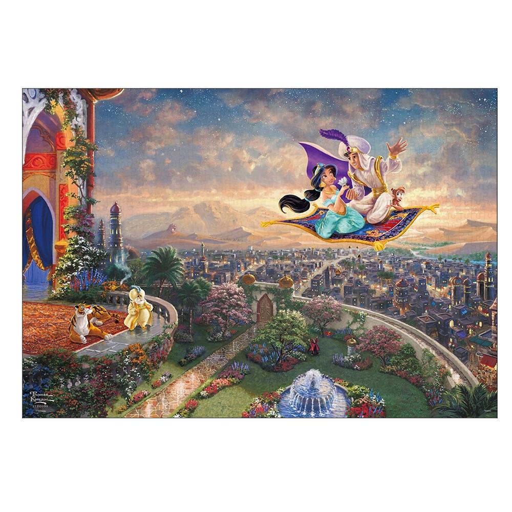 アラジン ジグソーパズル キャンバススタイル 1000ピース スペシャルアートコレクション トーマス・キンケード 「Aladdin」
