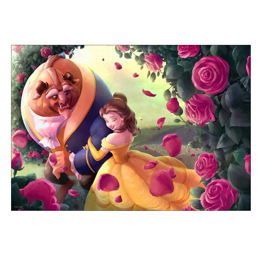 美女と野獣 ジグソーパズル 1000ピース「薔薇の小径(美女と野獣)」