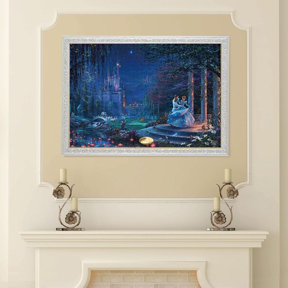 シンデレラ ジグソーパズル キャンバススタイル 1000ピース スペシャルアートコレクション トーマス・キンケード 「Cinderella Dancing in the Starlight」