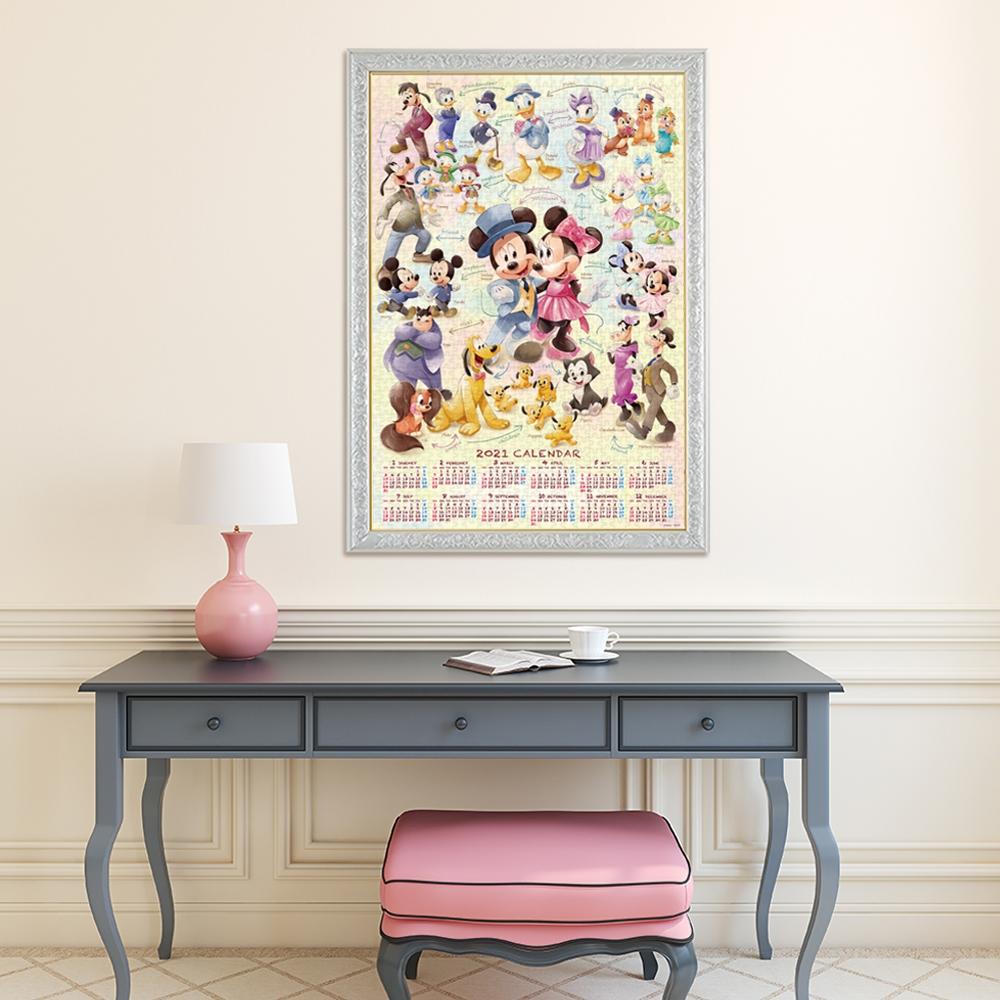スタンダードキャラクター ジグソーパズル 1000ピース「Mickey&Friends(2021年カレンダー ジグソーパズル」