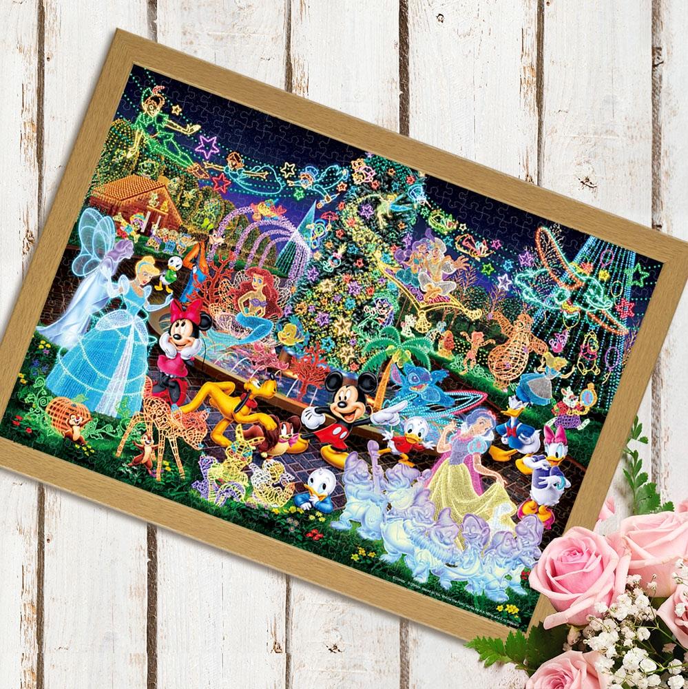 ディズニーオールキャラクター  ジグソーパズル 光る 世界最小 1000ピース  「 マジカル イルミネーション 」