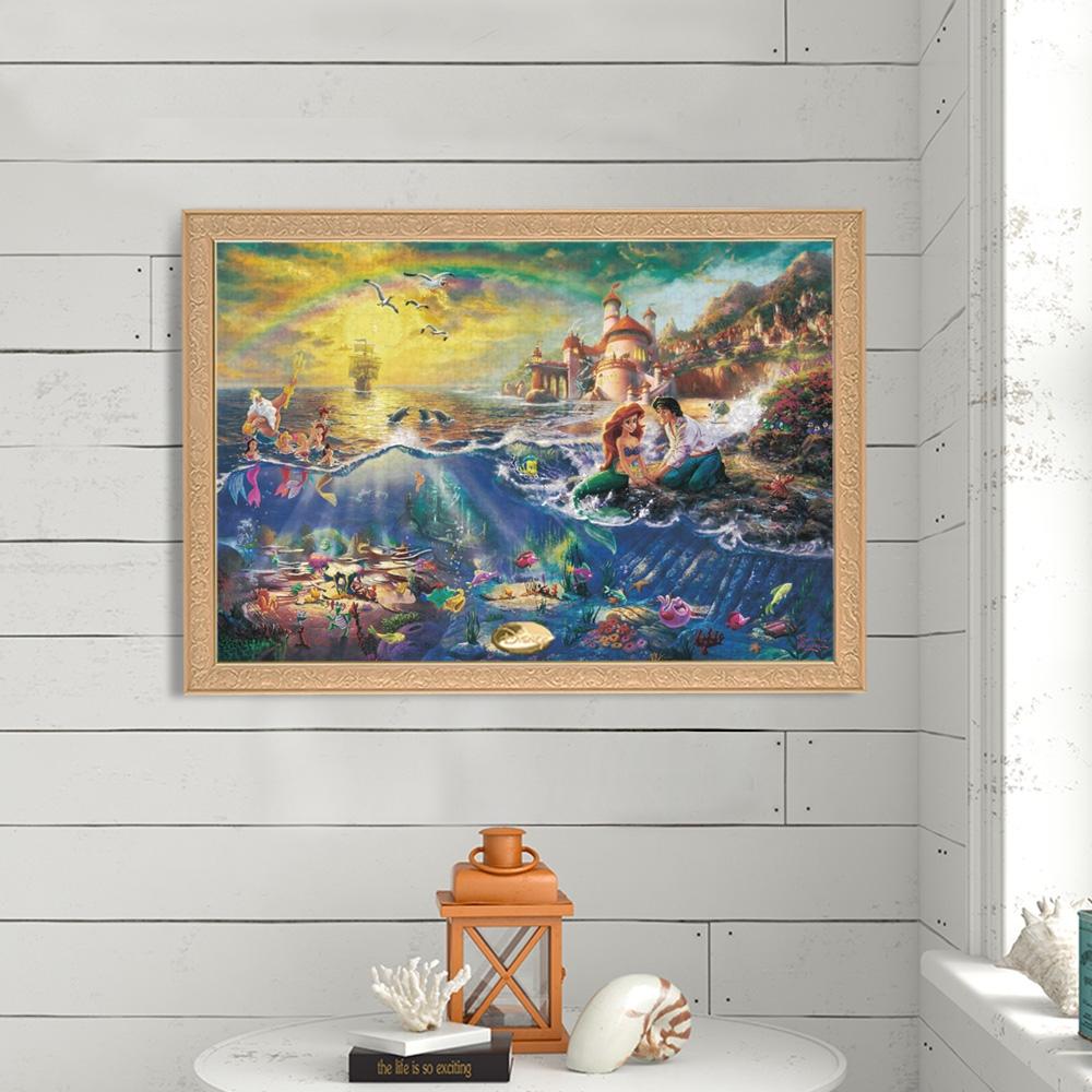 リトル・マーメイド ジグソーパズル キャンバススタイル 1000ピース スペシャルアートコレクション トーマス・キンケード 「The Little Mermaid」