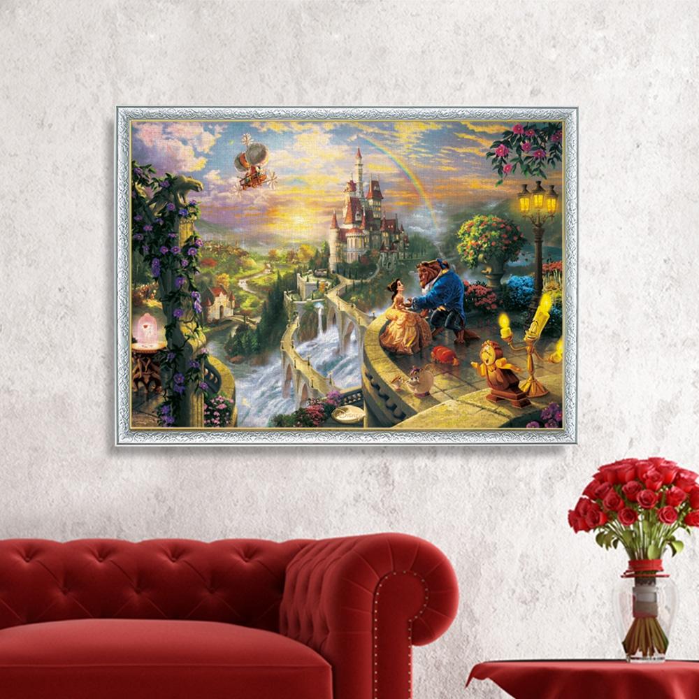 美女と野獣 ジグソーパズル 2000ピース スペシャルアートコレクション トーマス・キンケード 「Beauty and the Beast Falling in Love」