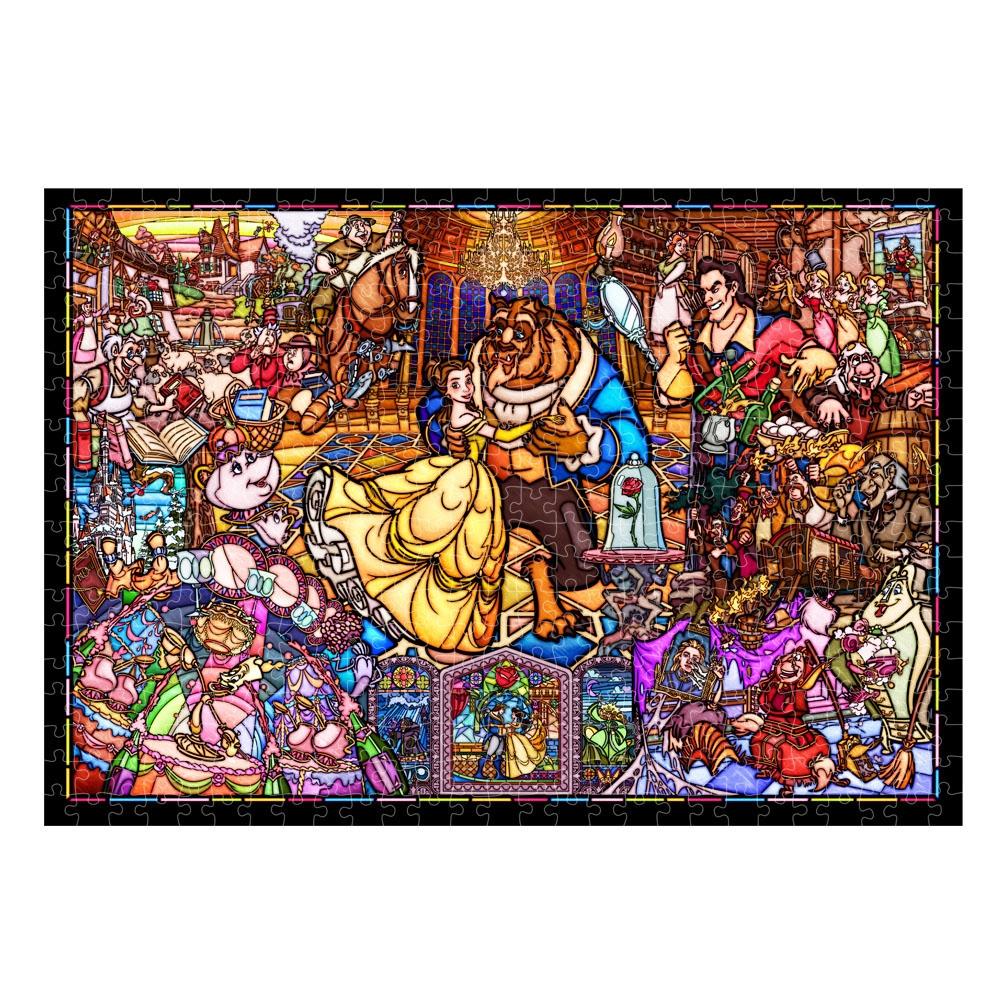 美女と野獣  ジグソーパズル ステンドアート ぎゅっと500ピース 「美女と野獣 ストーリー ステンドグラス」