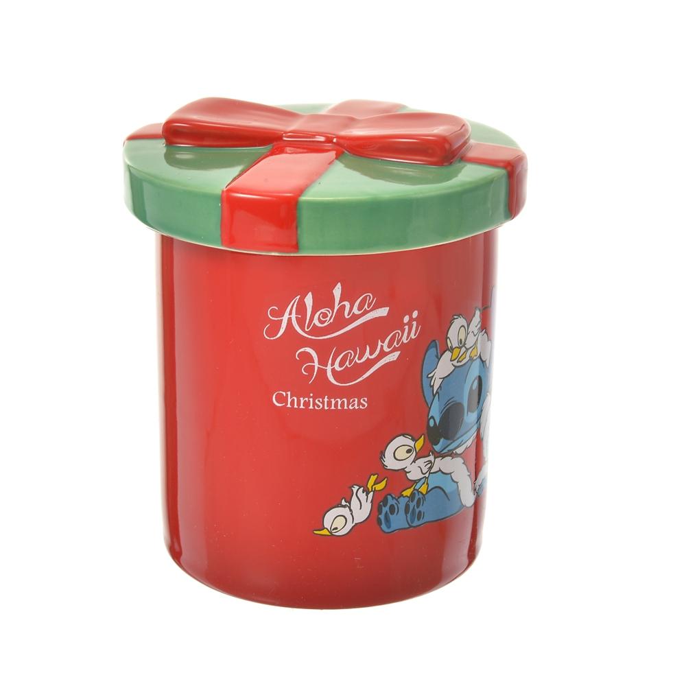 スティッチ&スクランプ マグカップ ふた付き Hawaiian Christmas