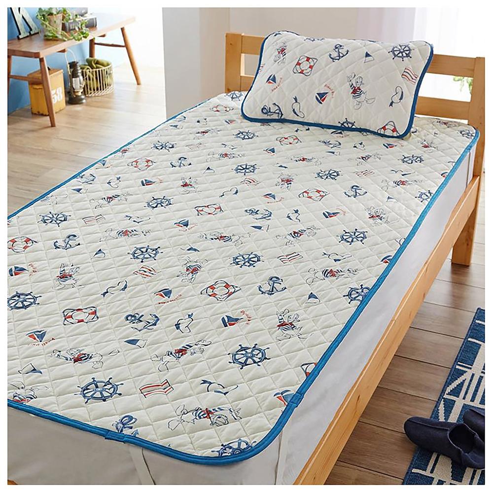 ドナルド リバーシブル枕パッド&敷きパッドセット 接触冷感とソフトパイル