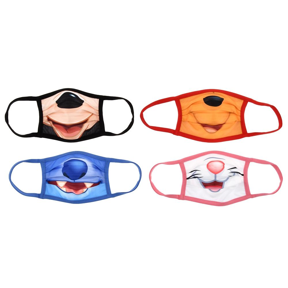 ディズニーキャラクター 家庭用布マスク(L) 4枚セット