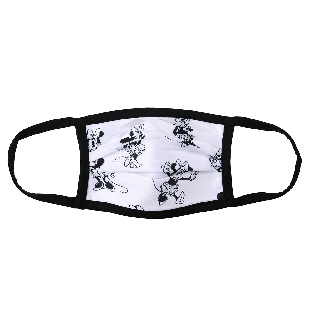 ミニー 家庭用布マスク (S) ブラック&ホワイト