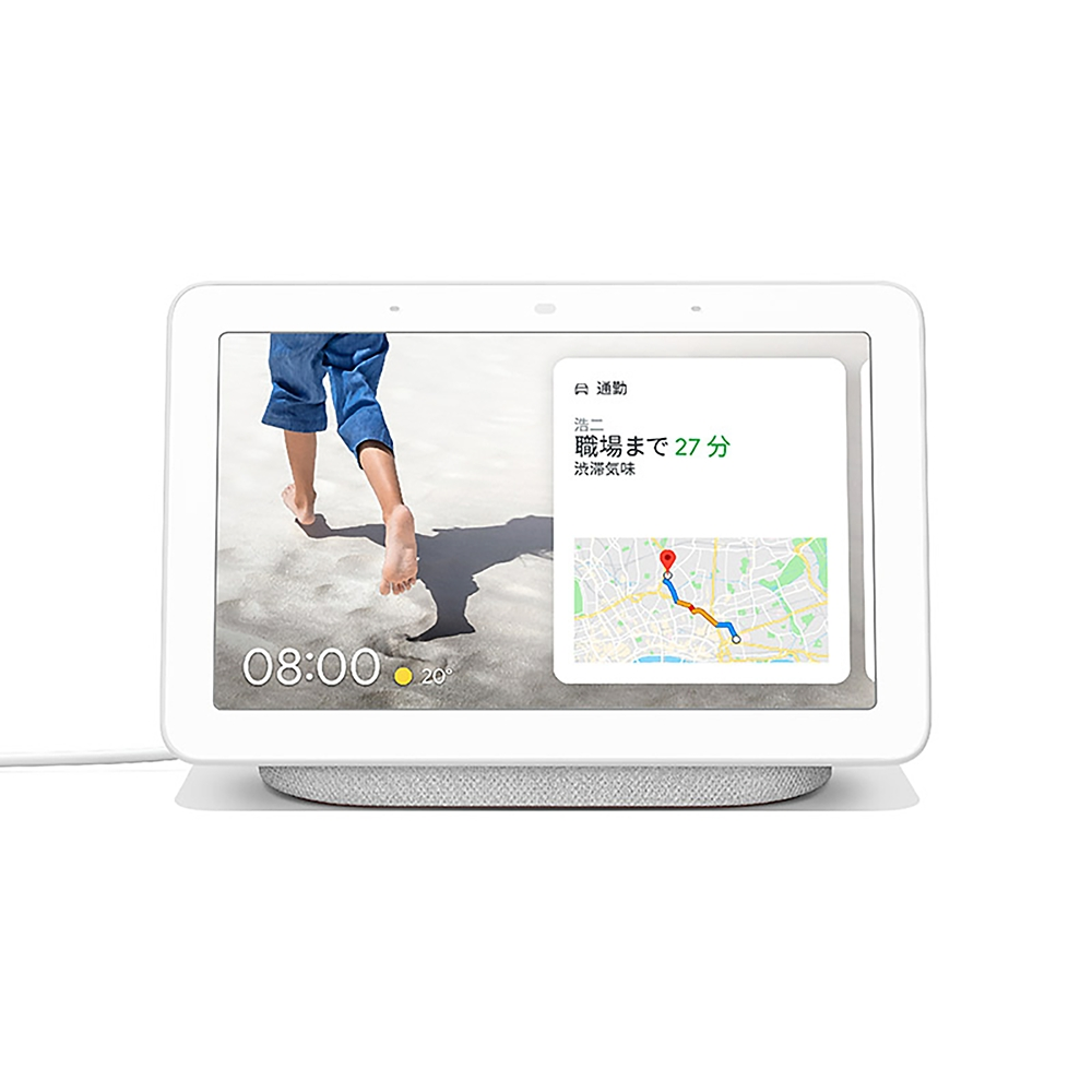Google Nest Hub Chalk ノベルティオリジナルフレームステッカー付(ミニー)