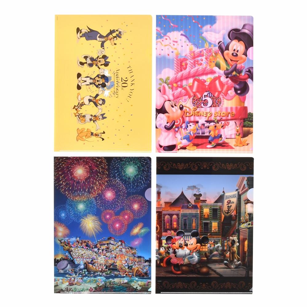ミッキー&フレンズ クリアファイル TOKYO DISNEY RESORT STORE 20th Anniversary