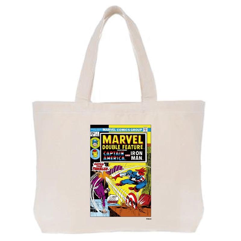 【D-Made】トートバッグ  MARVEL コミック キャプテンアメリカ アイアンマン